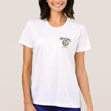 Beach Themed Preppy Volleyball Team Youth  League. T-Shirt