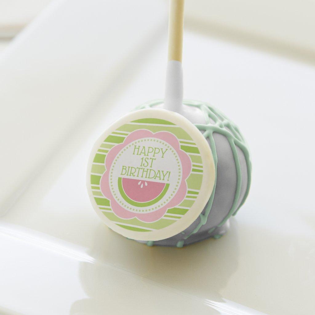 Preppy Watermelon 1st Birthday Cake Pops