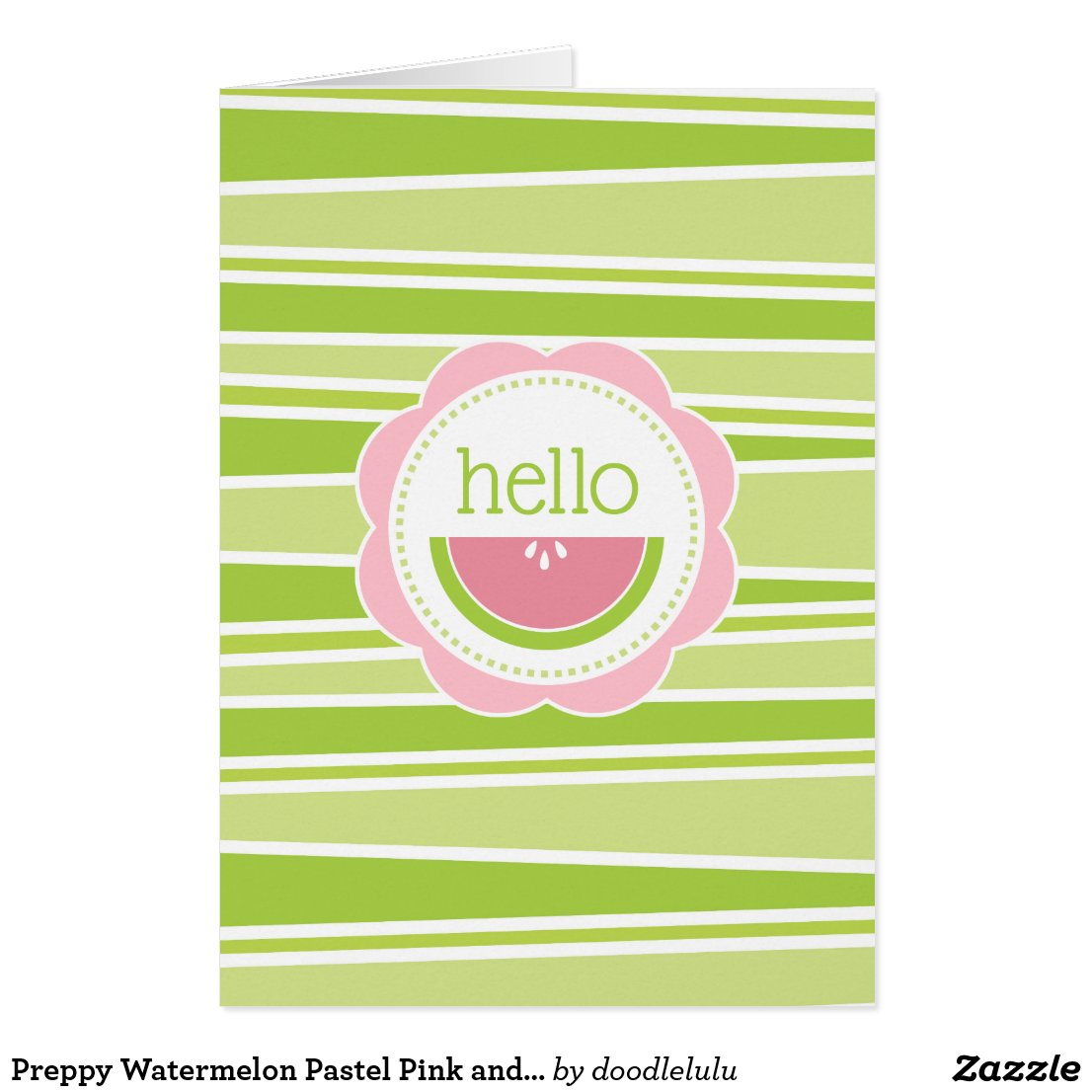 Preppy Watermelon Pastel Pink and Green