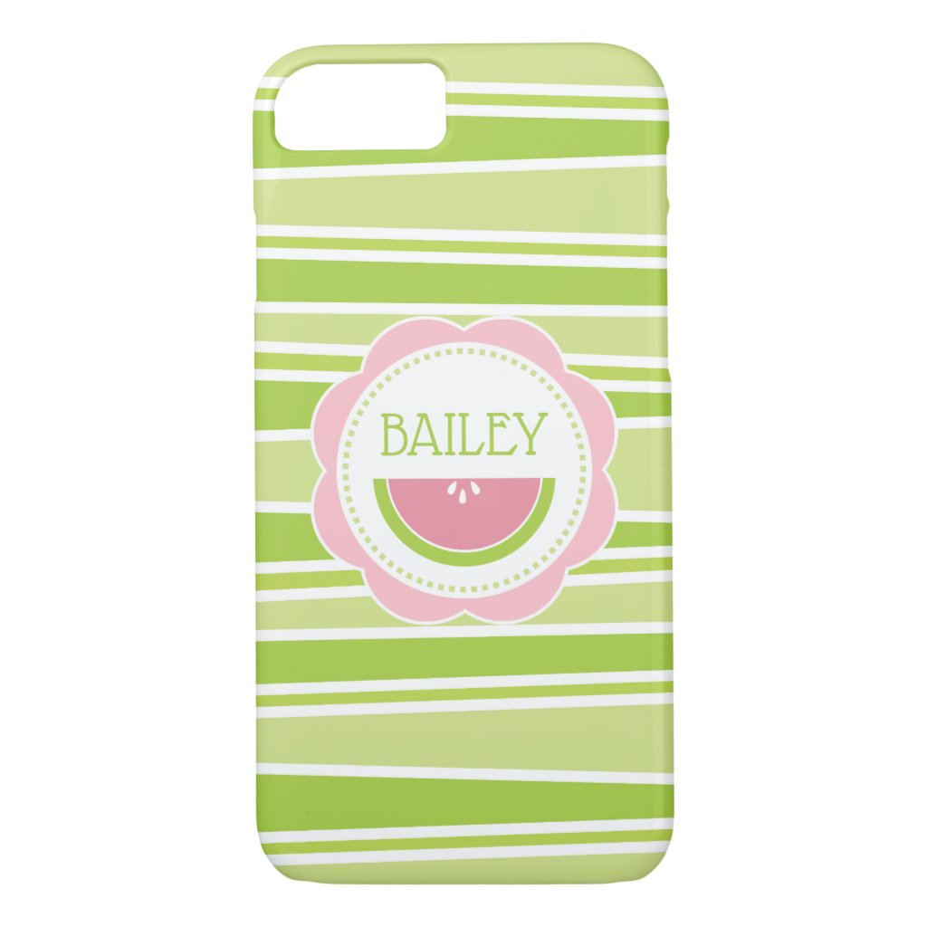 Preppy Watermelon Pastel Pink and Green iPhone 8/7 Case