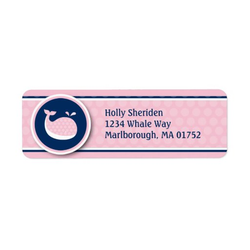 Preppy Whale Address Labels