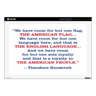 PRES26 ONE FLAG LAPTOP SKIN