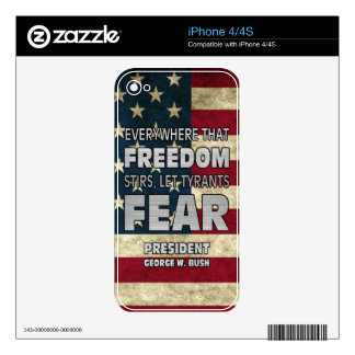 PRES43 TYRANTS FEAR iPhone 4 DECAL