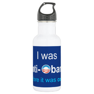 PRES44 ANTI-OBAMA STAINLESS STEEL WATER BOTTLE