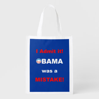 PRES44 I ADMIT IT GROCERY BAGS