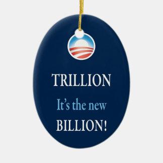 PRES44 NEW BILLION CERAMIC ORNAMENT