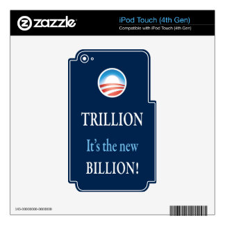 PRES44 NEW BILLION DECAL FOR iPod TOUCH 4G