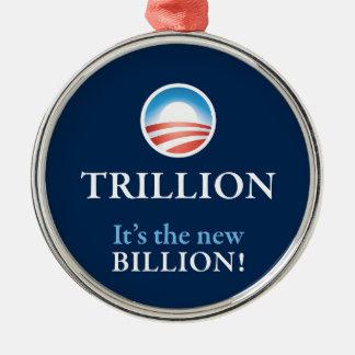 PRES44 NEW BILLION METAL ORNAMENT