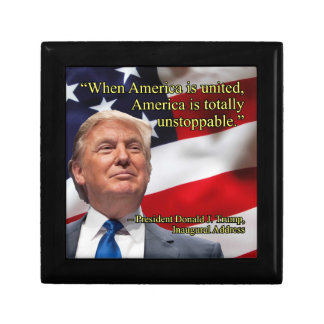 PRES45 AMERICA UNITED KEEPSAKE BOX