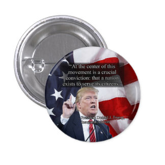 PRES45 CRUCIAL CONVICTION PINBACK BUTTON