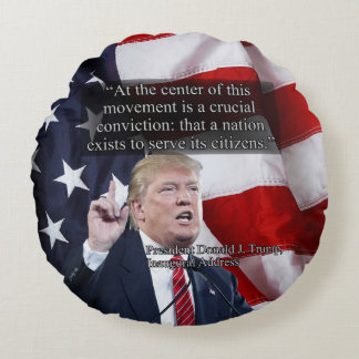 PRES45 CRUCIAL CONVICTION ROUND PILLOW