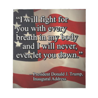 PRES45 FIGHT FOR YOU NOTEPAD