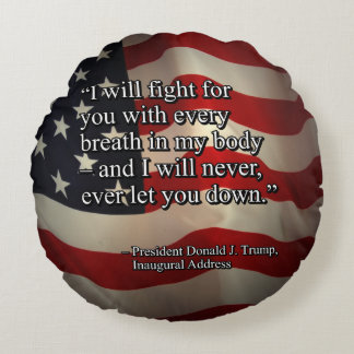PRES45 FIGHT FOR YOU ROUND PILLOW