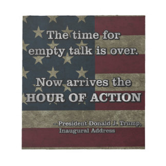PRES45 HOUR OF ACTION NOTEPAD