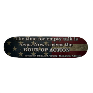 PRES45 HOUR OF ACTION SKATEBOARD DECK