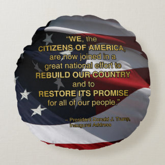 PRES45 NATIONAL EFFORT ROUND PILLOW