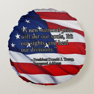 PRES45 NATIONAL PRIDE ROUND PILLOW