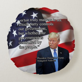 PRES45 WHAT TRULY MATTERS ROUND PILLOW