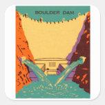 Presa de Boulder del Matchbook del vintage del Calcomanía Cuadradase