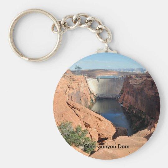 Presa de Glen Canyon Llavero Redondo Tipo Pin