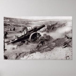 Presa de la artillería póster