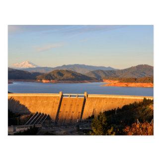 Presa del lago Shasta en California Postal