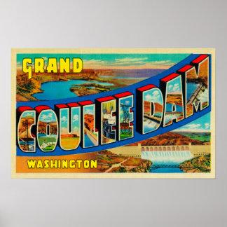 Presa magnífica de Coulee, Washington 2 Poster