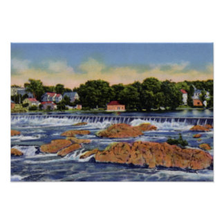 Presa y caídas de Lowell Massachusetts Pawtucketvi Póster