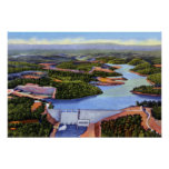 Presa y lago de Knoxville Tennessee Norris Poster