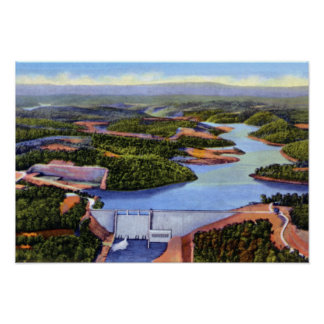 Presa y lago de Knoxville Tennessee Norris Póster