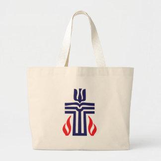 Presbyterian symbol jumbo tote bag