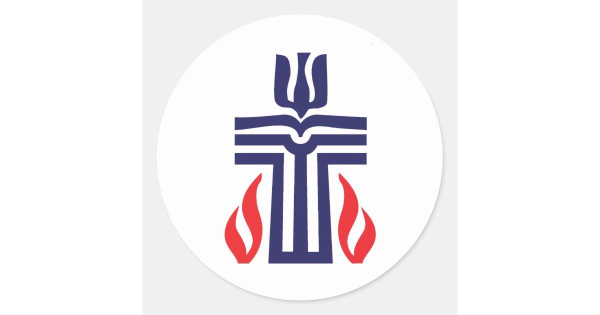 Presbyterian Symbol Classic Round Sticker Zazzle Com