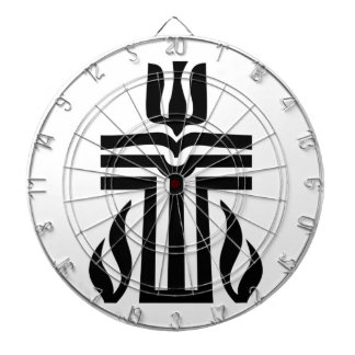 Presbyterian Symbol Dartboard With Darts