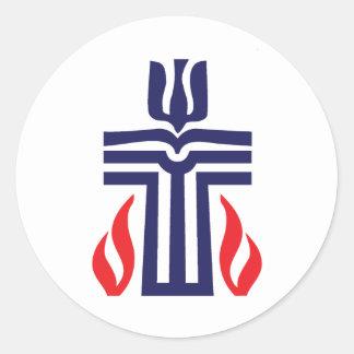 Presbyterian symbol classic round sticker