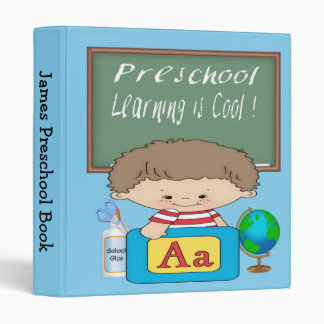 "Preschool Boy Learning is Cool 1"" Binder"
