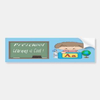 Preschool Boy Learning is Cool Bumper Sticker