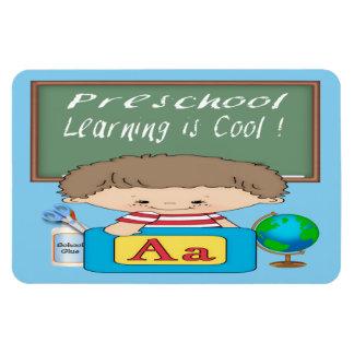 Preschool Boy Learning is Cool Flexible Magnets