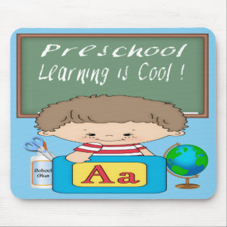 Preschool Boy Learning is Cool Mouse Pad