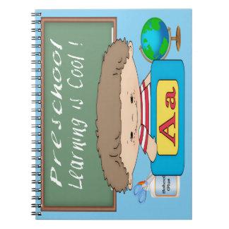 Preschool Boy Learning is Cool Spiral Notebook