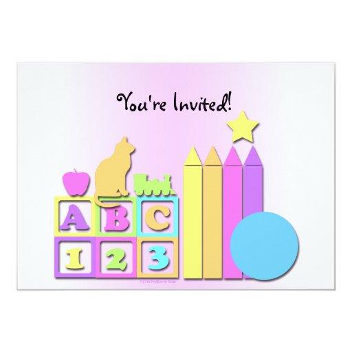 """Preschool Daycare Children's Invitation 5"""" X 7"""" Invitation Card"""