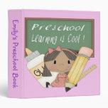 "Preschool Ethnic Girl Learning is Cool 1.5"" Binder"