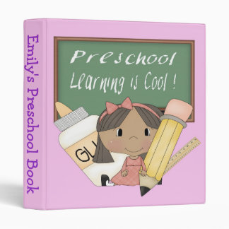 "Preschool Ethnic Girl Learning is Cool 1"" Binder"