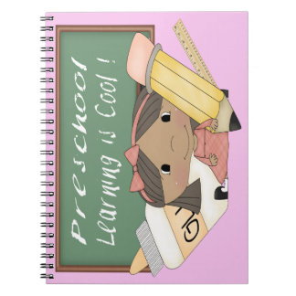 Preschool Ethnic Girl Learning is Cool Notebook