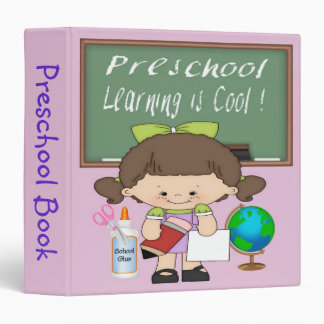 "Preschool Girl Learning is Cool 1.5"" Binder"