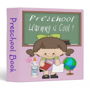 "Beach Themed Preschool Girl Learning is Cool 1.5"" Binder"