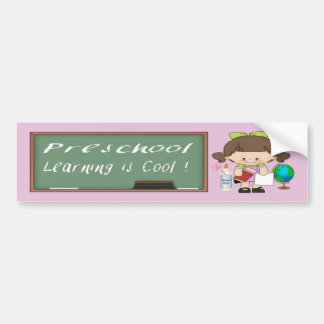 Preschool Girl Learning is Cool Bumper Sticker