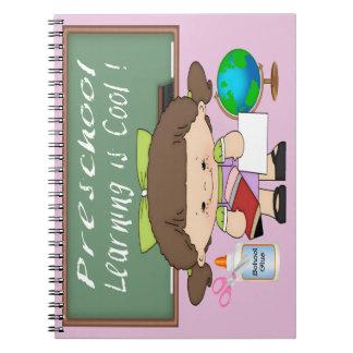 Preschool Girl Learning is Cool Spiral Notebook