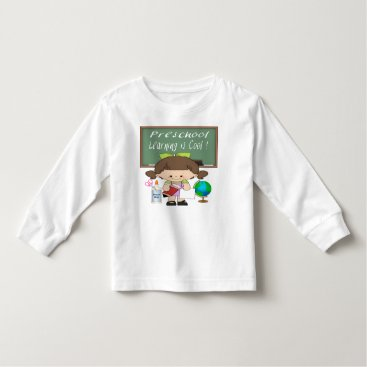 Beach Themed Preschool Girl Learning is Cool Toddler T-shirt