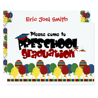 Preschool Graduation Announcement Invitation