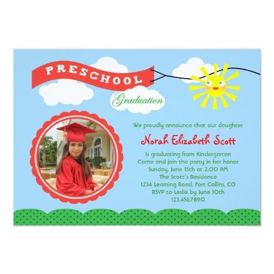 Preschool graduation photo invitation zazzle preschool graduation photo invitation filmwisefo